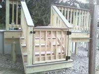 pressure treated wood gate ideas