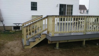 Composite deck ideas with pressure treated mix materials