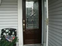 door installation of fiberglass door system