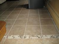 tile threshold, ceramic tile floor, floor installation