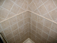 bath tile with accent bead